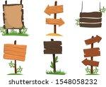 wooden signposts vector... | Shutterstock .eps vector #1548058232