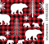 woodland seamless pattern.... | Shutterstock .eps vector #1548133232