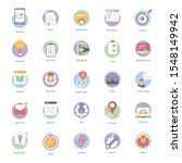 seo flat icons pack is... | Shutterstock .eps vector #1548149942