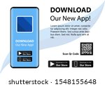 download our new app  mobile...   Shutterstock .eps vector #1548155648