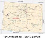 colorado road map - stock vector