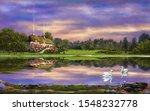 Oil Paintings Rural Landscape...