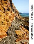 rock stone sky cloud beach ... | Shutterstock . vector #154827308