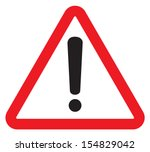 attention sign with exclamation ... | Shutterstock .eps vector #154829042