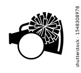 pom pom and megaphone vector... | Shutterstock .eps vector #1548308978