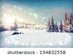 fantastic winter landscape.... | Shutterstock . vector #154832558
