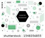 memphis geometric background... | Shutterstock .eps vector #1548356855
