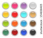 set of buttons | Shutterstock .eps vector #154838405