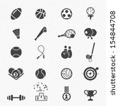 sports icons  isolated on white ... | Shutterstock .eps vector #154844708