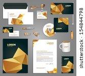 black stationery template...   Shutterstock .eps vector #154844798