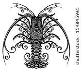 vector sea spiny lobster.... | Shutterstock .eps vector #154845965