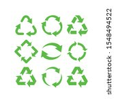 recycle icon set  recycle... | Shutterstock .eps vector #1548494522