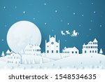 merry christmas and happy new... | Shutterstock .eps vector #1548534635