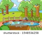scene with crocodiles in the... | Shutterstock .eps vector #1548536258