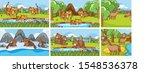 background scenes of animals in ... | Shutterstock .eps vector #1548536378