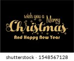 merry christmas and happy new... | Shutterstock .eps vector #1548567128