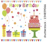 set of vector birthday party... | Shutterstock .eps vector #154859066