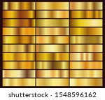 vector set of 30 unique gold... | Shutterstock .eps vector #1548596162
