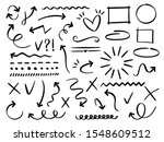 sketch arrows and frames. hand... | Shutterstock .eps vector #1548609512