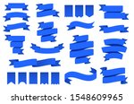 blue ribbon banners and flags.... | Shutterstock .eps vector #1548609965