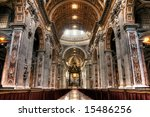 Hdr Image Of The Interior Of St....