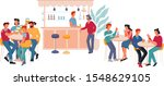 restaurant or bar interior with ... | Shutterstock .eps vector #1548629105