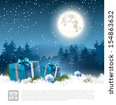 christmas night   background... | Shutterstock .eps vector #154863632