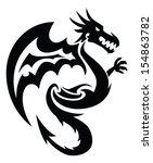 flying dragon tattoo design ...   Shutterstock .eps vector #154863782