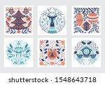 vector merry christmas greeting ... | Shutterstock .eps vector #1548643718