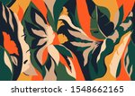 modern exotic jungle plants... | Shutterstock .eps vector #1548662165