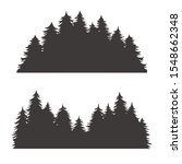 forest silhouette for emblem... | Shutterstock .eps vector #1548662348