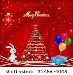 christmas background with... | Shutterstock .eps vector #1548674048