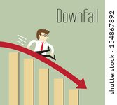 downfall  chart going through... | Shutterstock .eps vector #154867892
