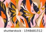 modern exotic jungle plants...   Shutterstock .eps vector #1548681512