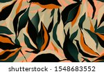 hand drawn abstract floral... | Shutterstock .eps vector #1548683552