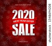 new year 2020 sale badge  label ...   Shutterstock .eps vector #1548694208