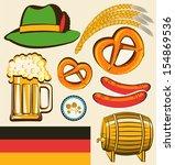 oktoberfest festival symbol... | Shutterstock . vector #154869536