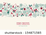 vintage christmas elements ... | Shutterstock .eps vector #154871585