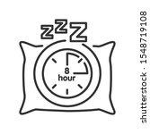 sleep time black line icon....
