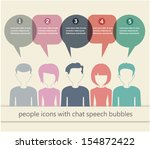 people icons with chat speech... | Shutterstock .eps vector #154872422