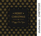 design of christmas postcard... | Shutterstock .eps vector #1548735185