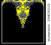 Pop Art Of A Yellow Devil On A...