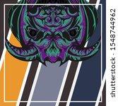 abstract a devil. pop art a... | Shutterstock .eps vector #1548744962
