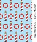 seamless sea pattern design.... | Shutterstock .eps vector #154875002