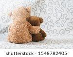Two Teddy Bear Plush Toy On A...