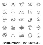 ecology outline vector icons...
