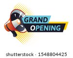 grand opening logo with red... | Shutterstock .eps vector #1548804425