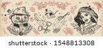 halloween vintage collection.... | Shutterstock .eps vector #1548813308