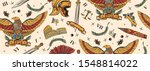 ancient rome seamless pattern.... | Shutterstock .eps vector #1548814022