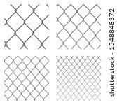 wire mesh. set of different... | Shutterstock .eps vector #1548848372